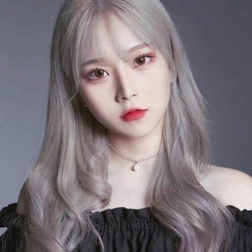 Màu tóc xám khói - Màu tóc đẹp 2021