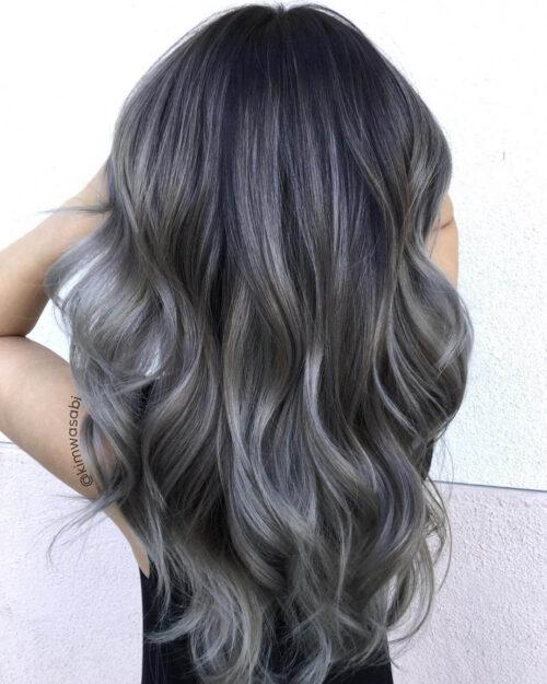 Màu tóc nâu tro - Màu tóc đẹp 2021