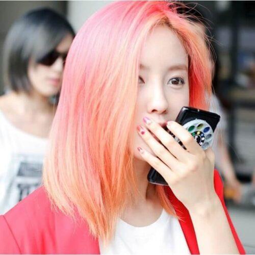 Màu tóc hồng