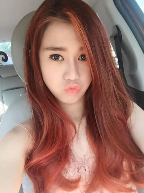 Màu tóc đỏ cam