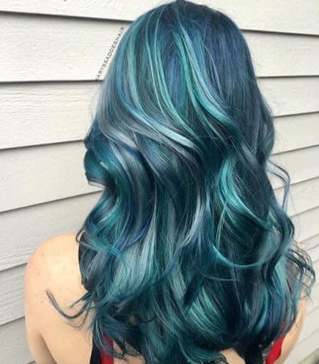 Màu tóc xanh dương