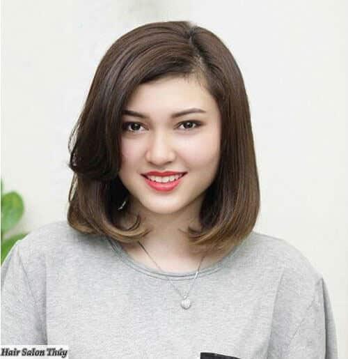 Kiểu tóc ngắn đẹp 2021 cho mặt tròn - Ảnh 13