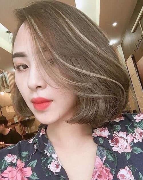 Kiểu tóc ngắn đẹp 2021 cho mặt tròn - Ảnh 15