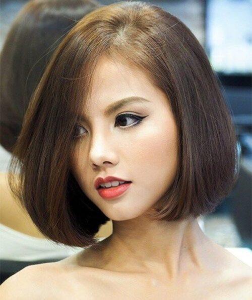 Kiểu tóc ngắn đẹp 2021 cho mặt tròn - Ảnh 20