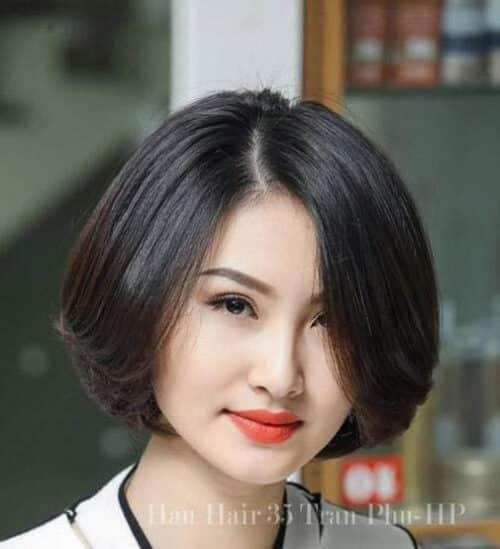 Kiểu tóc ngắn đẹp 2021 cho mặt tròn - Ảnh 6