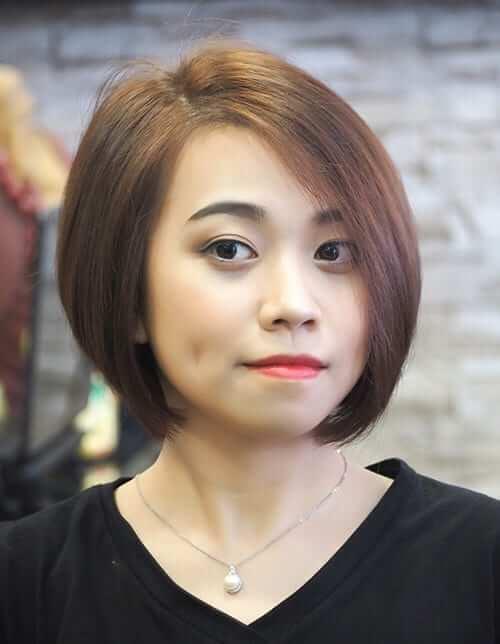 Kiểu tóc ngắn đẹp 2021 cho mặt tròn - Ảnh 9
