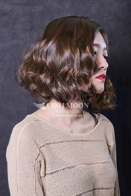 Kiểu tóc ngắn uốn xoăn đẹp nhất 2021 - Ảnh 11