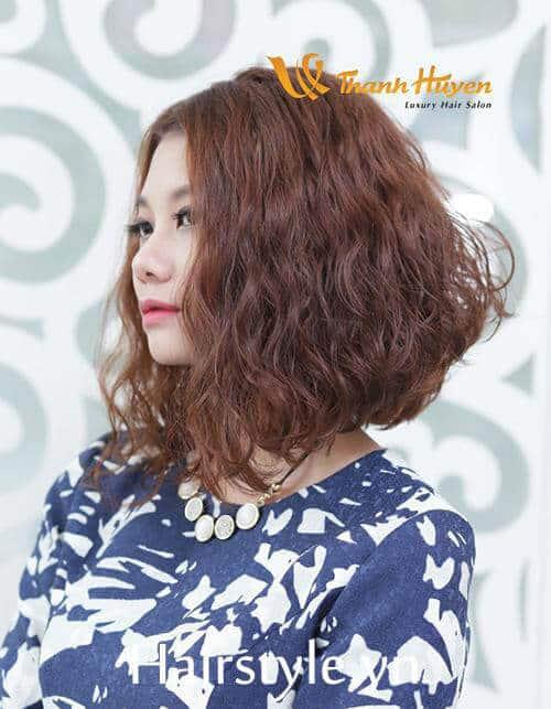 Kiểu tóc ngắn uốn xoăn đẹp nhất 2021 - Ảnh 15