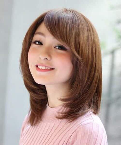 Mái dài cho tóc ngang vai