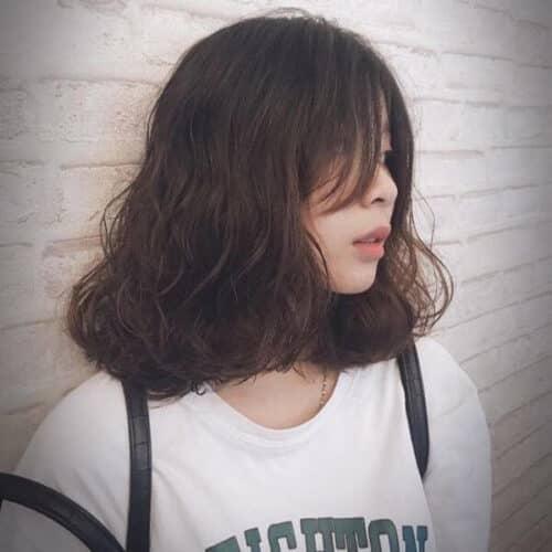 Kiểu tóc ngang vai mặt dài đẹp nhất 2021 - Ảnh 11
