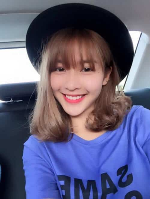 Kiểu tóc ngang vai mặt dài đẹp nhất 2021 - Ảnh 13