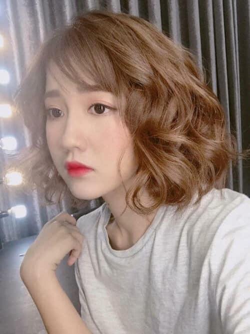 Kiểu tóc ngang vai mặt dài đẹp nhất 2021 - Ảnh 7