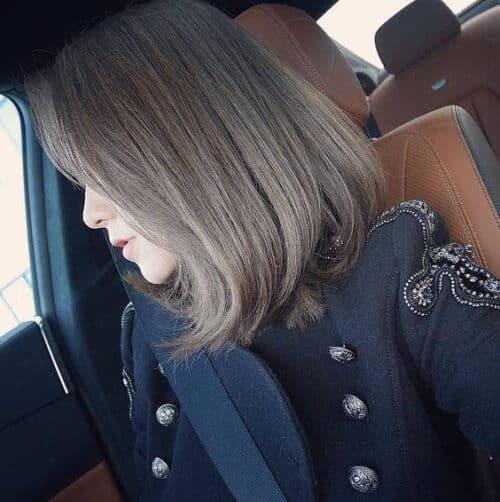 Kiểu tóc ngang vai mặt dài đẹp nhất 2021 - Ảnh 9