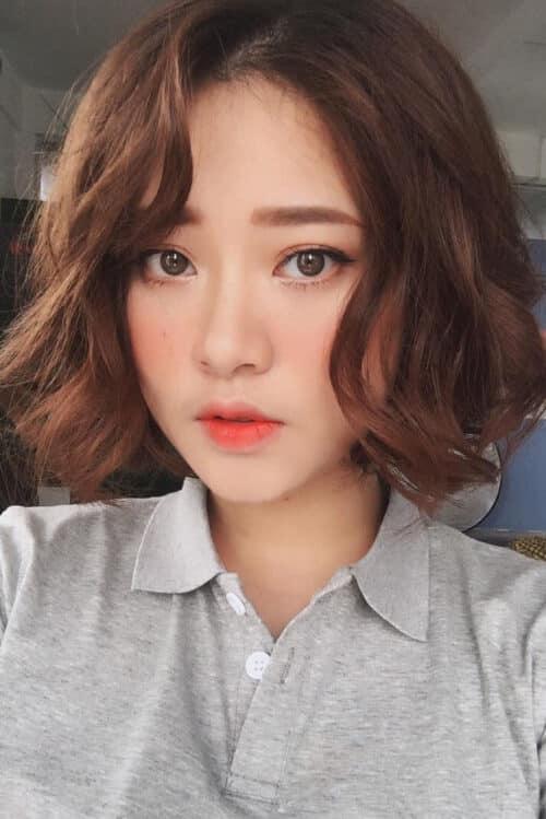 Kiểu tóc ngắn uốn đẹp nhất 2021 - Ảnh 17