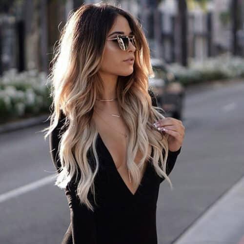 Tóc dài nhuộm đẹp