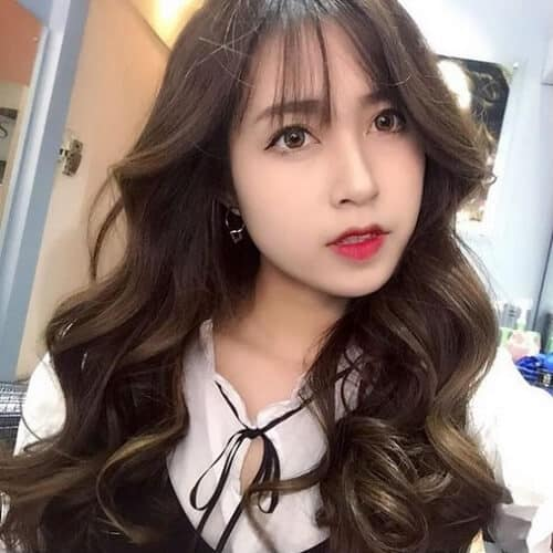 Kiểu tóc dài uốn 2021 xinh lung linh - Ảnh 26