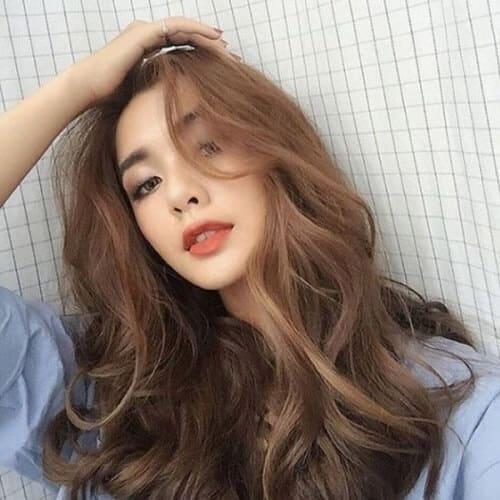 Kiểu tóc dài uốn 2021 xinh lung linh - Ảnh 5