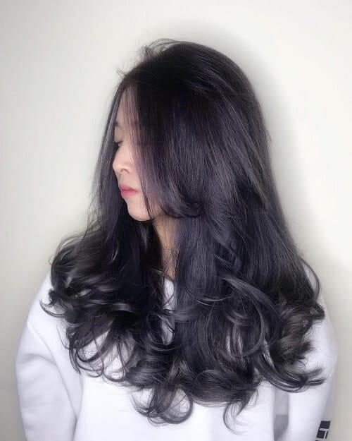 Kiểu tóc dài uốn 2021 xinh lung linh - Ảnh 7