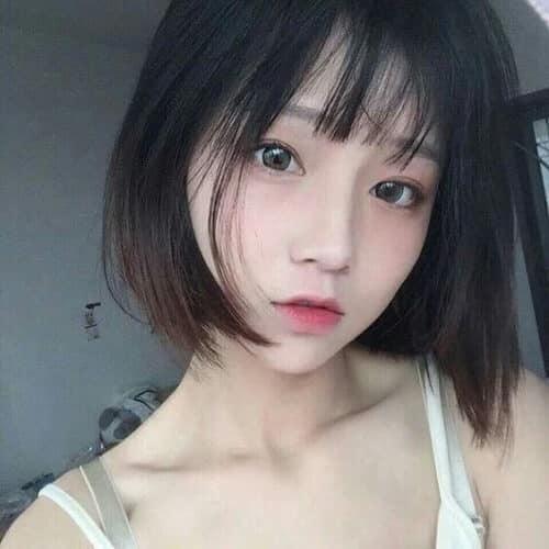 Kiểu tóc ngắn mái thưa đẹp nhất 2021 - Ảnh 15