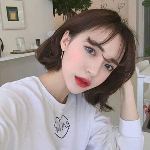 Kiểu tóc ngắn mái thưa đẹp nhất 2021 - Ảnh 17