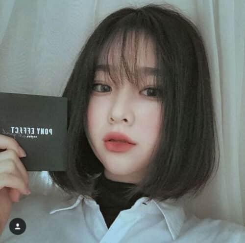 Kiểu tóc ngắn mái thưa đẹp nhất 2021 - Ảnh 20