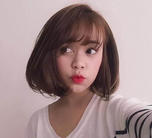 Kiểu tóc ngắn mái thưa đẹp nhất 2021 - Ảnh 22