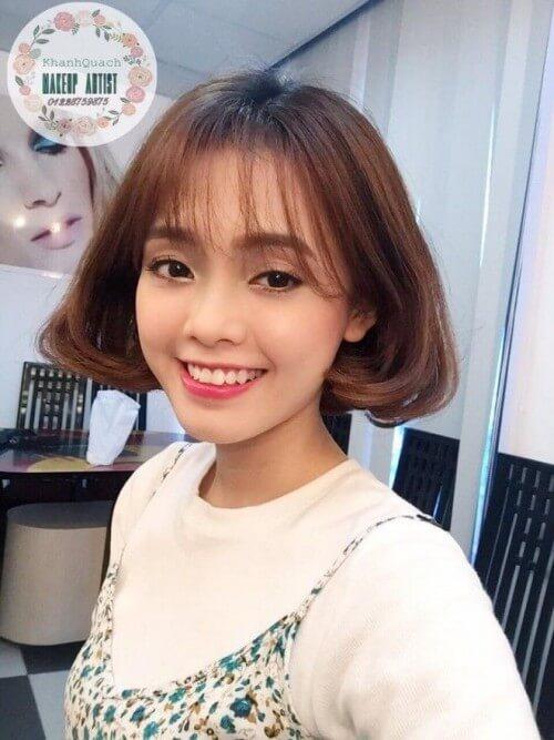 Kiểu tóc ngắn mái thưa đẹp nhất 2021 - Ảnh 25