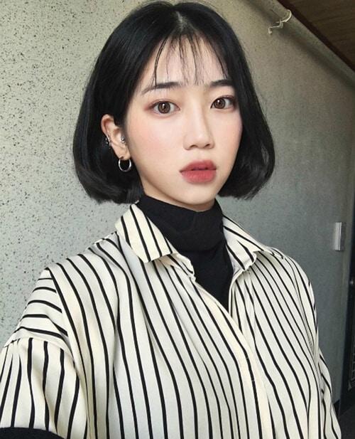 Kiểu tóc ngắn mái thưa đẹp nhất 2021 - Ảnh 7