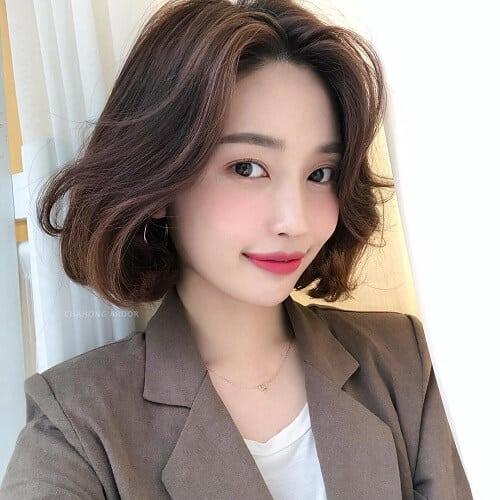 Kiểu tóc ngắn uốn đẹp nhất 2021 - Ảnh 9