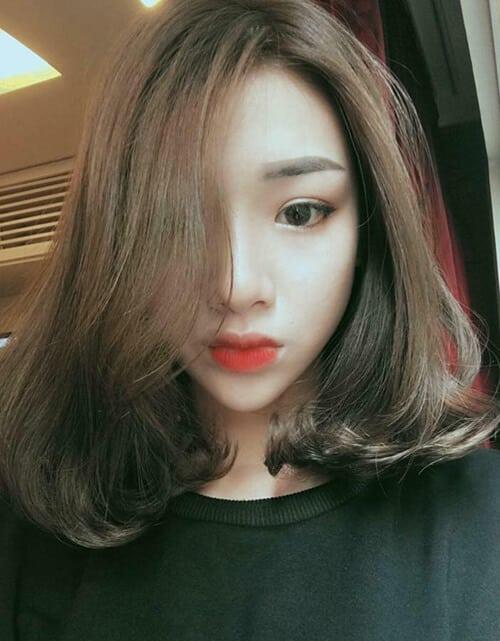 Kiểu tóc ngang vai cho mặt tròn đẹp nhất 2021 - Ảnh 21
