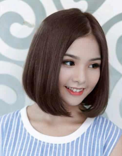 Tóc ngắn uốn cụp Hàn Quốc