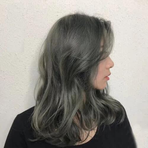 Màu tóc rêu khói ánh kim - Ảnh 1