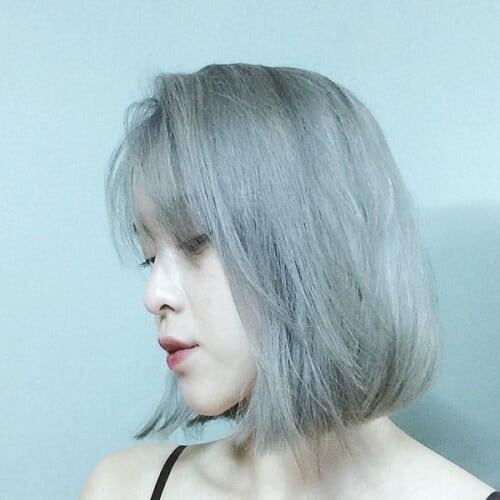 Tóc màu khói bạc rạng ngời