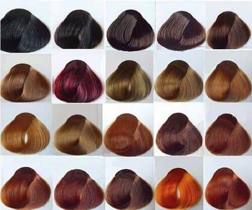 Bảng màu nhuộm tóc đầy đủ, xu hướng màu tóc nhuộm hiện nay