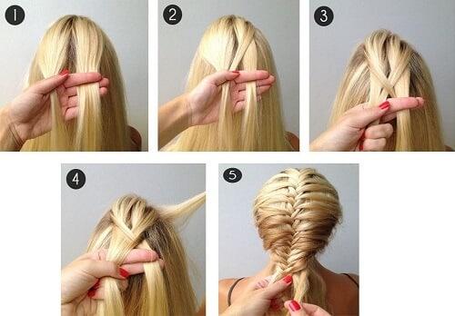 Tết tóc đẹp xương cá kiểu pháp cực đơn giản dễ làm