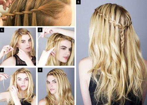 Tết tóc đẹp thác nước cơ bản rất dễ thực hiện tại nhà