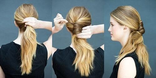Tết tóc đuôi ngựa xoắn