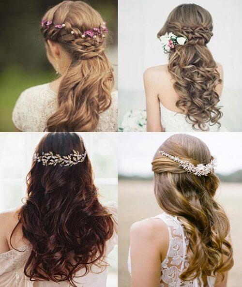 Tết tóc cô dâu kiểu nửa đầu khiến bạn trở nên xinh đẹp trong ngày trọng đại