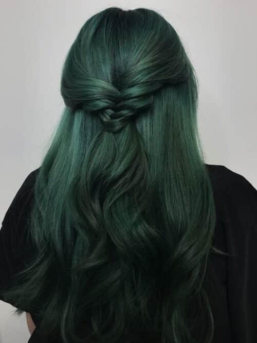 Công thức nhuộm tóc màu rêu
