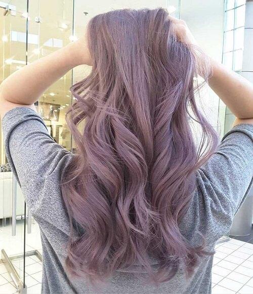 Công thức nhuộm tóc màu tím khói