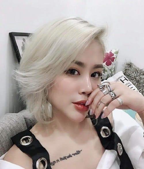 Công thức nhuộm tóc màu trắng