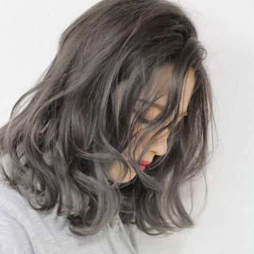Tóc màu xám khói tối