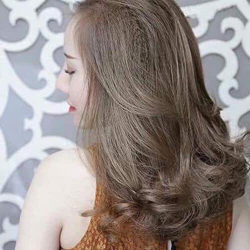 Tóc màu rêu xám khói