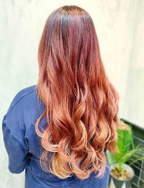 Tóc nhuộm ombre nhiều màu