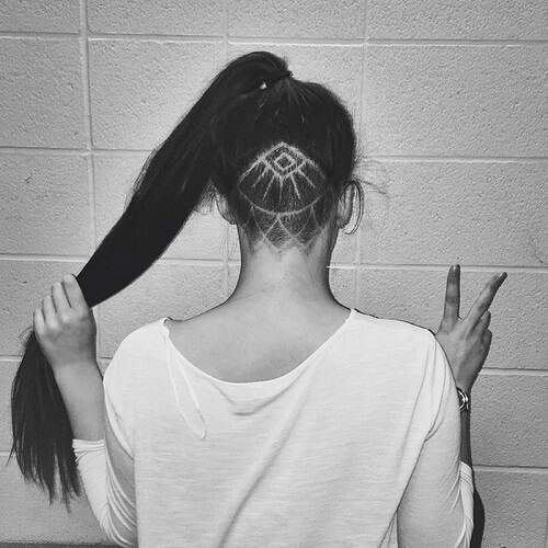 Kiểu tóc undercut nữ 2021- Ảnh 28