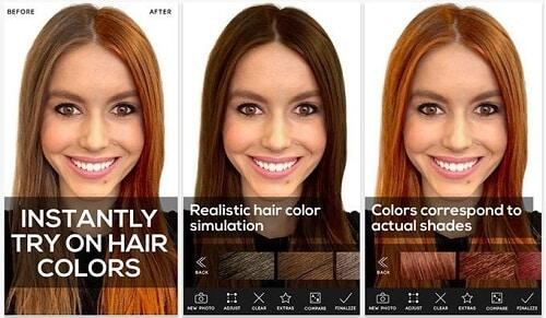 """Phần mềm thay đổi màu tóc rất """"lợi hại"""" bạn nên thử"""
