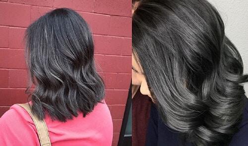 Màu tóc than chì cho học sinh cấp 2, cấp 3