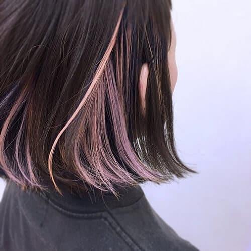 Tóc highlight cho tóc đen