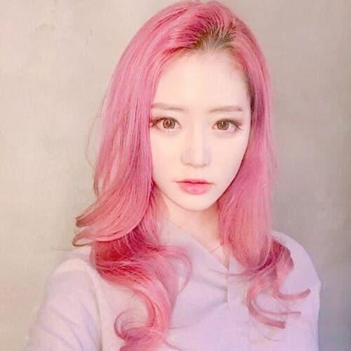 Tóc màu hồng tím