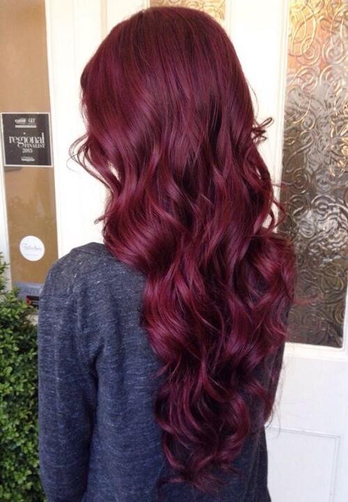 Tóc màu đỏ mận